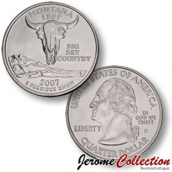 ETATS-UNIS / USA - PIECE de 25 Cents (Quarter States) - Montana - 2007