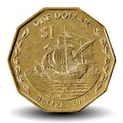BELIZE - PIECES de 1 Dollar - La caraque Santa-Maria - 2007