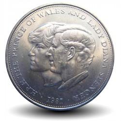 ROYAUME-UNI - PIECE de 25 Pence - Mariage du prince Charles et de Lady Diana - 1981