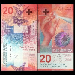 SUISSE - Billet de 20 Francs - 2015