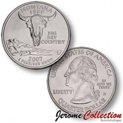 ETATS-UNIS / USA - PIECE de 25 Cents (Quarter States) - Montana