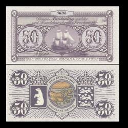 GROENLAND / GROCLAND - Billet de 50 Kroner - Bateau trois mats - 2018