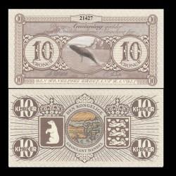 GROENLAND / GROCLAND - Billet de 10 Kroner - Baleine - 2018