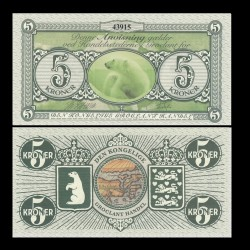 GROENLAND / GROCLAND - Billet de 5 Kroner - Ours Polaire - 2018