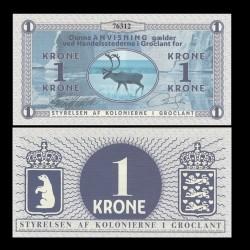 GROENLAND / GROCLAND - Billet de 1 Krone - Elan - 2018