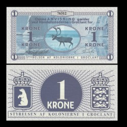 GROENLAND / GROCLAND - Billet de 1 Krone - Elan - 2018 0001