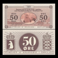 GROENLAND / GROCLAND - Billet de 50 Ore - Phoque - 2018 0050a