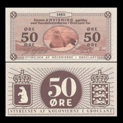 GROENLAND / GROCLAND - Billet de 50 Ore - Phoque - 2018