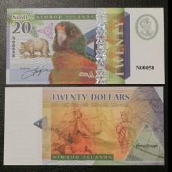 NIMROD ILANDS / ILES NIMROD - Billet de 20 DOLLARS - PERROQUET - 2018