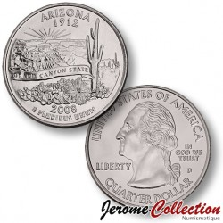 ETATS-UNIS / USA - PIECE de 25 Cents (Quarter States) - Arizona - 2008