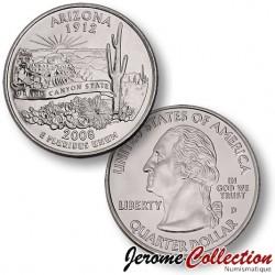 ETATS-UNIS / USA - PIECE de 25 Cents (Quarter States) - Arizona
