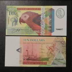 NIMROD ILANDS / ILES NIMROD - Billet de 10 DOLLARS - PERROQUET - 2018