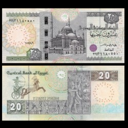 EGYPTE - Billet de 20 Pounds - Char de guerre - 16/8/2016