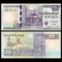 EGYPTE - Billet de 20 Pounds - Char de guerre - 18/10/2016