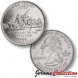 ETATS-UNIS / USA - PIECE de 25 Cents (Quarter States) - New Jersey - 1999