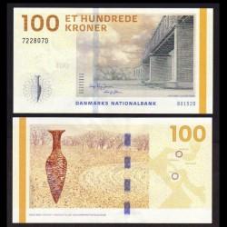 DANEMARK - Billet de 100 Kroner - Vieux pont ferroviaire de Lillebælt - 2015