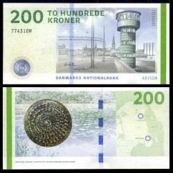DANEMARK - Billet de 200 Kroner - Tour de contrôle - 2015