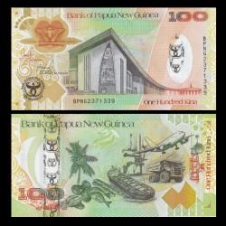 PAPOUASIE NOUVELLE GUINEE - Billet de 100 Kina - 35 ans de la banque - 2008