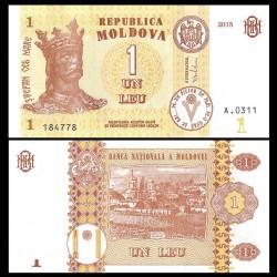 MOLDAVIE - Billet de 1 Leu - 2015