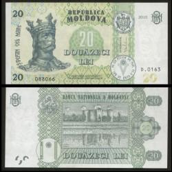 MOLDAVIE - Billet de 20 LeI - Forteresse de Soroca - 2015