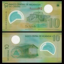 NICARAGUA - Billet de 10 Córdobas - Polymer - 2007