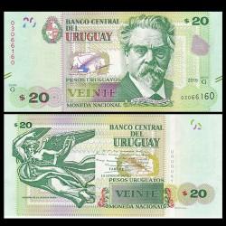 URUGUAY - Billet de 20 Pesos Uruguayos - 2015 P93a