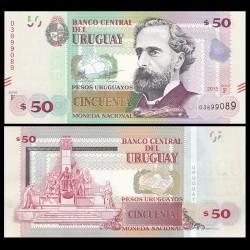 URUGUAY - Billet de 50 Pesos Uruguayos - 2015 P94a