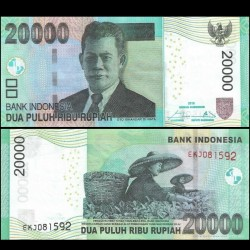 INDONESIE - Billet de 20000 Rupiah - Récolte de thé - 2016