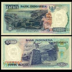 INDONESIE - Billet de 1000 Rupiah - Saut de Rocher - 1992 / 1993