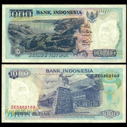 INDONESIE - Billet de 1000 Rupiah - Saut de Rocher - 1992 / 1996