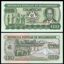 MOZAMBIQUE - Billet de 100 Meticais - 16.06.1989