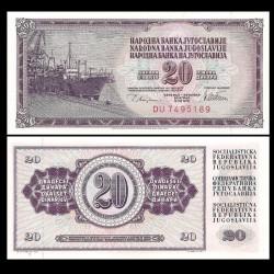 YOUGOSLAVIE - Billet de 20 Dinara - 12.08.1978