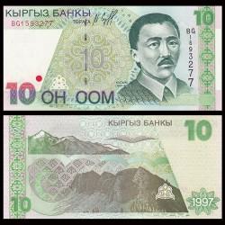 KIRGHIZISTAN - Billet de 10 Som - Kasym Tynystanov - 1997