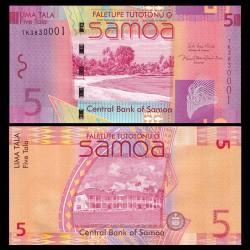 SAMOA - BILLET de 5 Tala - Plage - 2017