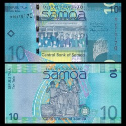 SAMOA - BILLET de 10 Tala - Champions de rugby 'Hongkong Sevens 2007' - 2017 P39b