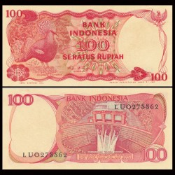INDONESIE - Billet de 100 Rupiah - Goura de Victoria - 1984 P122