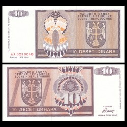 BOSNIE HERZEGOVINE - Billet de 10 Dinara - 1992 P133a