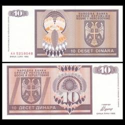 BOSNIE HERZEGOVINE / Republika Srpska - Billet de 10 Dinara - 1992