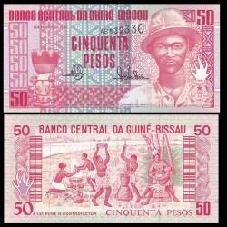 GUINEE BISSAU - Billet de 50 Pesos - Pansau Na Isna - 1990