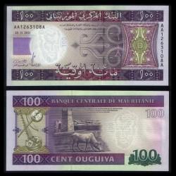 MAURITANIE - Billet de 100 Ouguiya - 2011 P16a