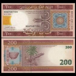 MAURITANIE - Billet de 200 Ouguiya - 28.11.2006 P11b