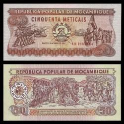 MOZAMBIQUE - Billet de 50 Meticais - 16.06.1986