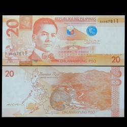 PHILIPPINES - Billet de 20 Piso - Civette - 2018