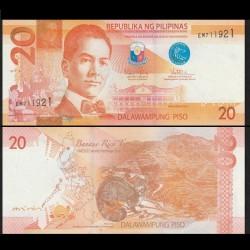 PHILIPPINES - Billet de 20 Piso - Civette - 2015A