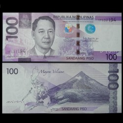 PHILIPPINES - Billet de 100 Piso - Requin-baleine - 2018 P222c