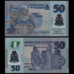 NIGERIA - Billet de 50 Naira - Polymer - 2018