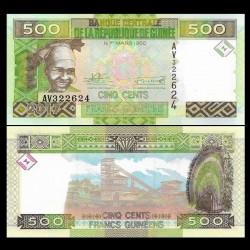 GUINEE - Billet de 500 Francs - 2017 P47b