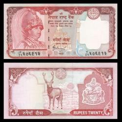 NEPAL - Billet de 20 Roupies - Cerf sambar - 2006