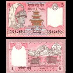 NEPAL - Billet de 5 Roupies - 2 Yachs - 1990