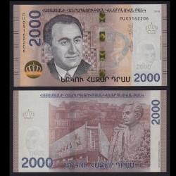 ARMENIE - Billet de 2000 DRAM - Tigran Petrosyan - 2018